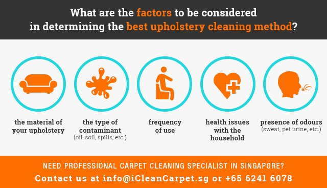 Factors to Consider in Professional Upholstery Cleaning Singapore Method