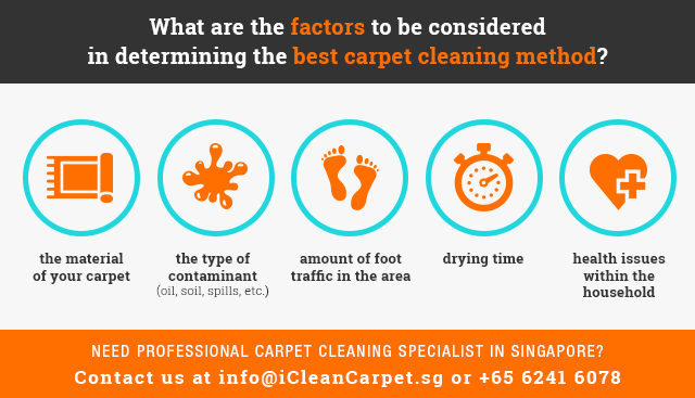 Factors to Consider to Determine Best Professional Carpet Cleaning Method in Singapore