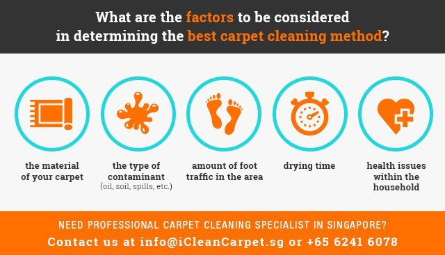 Professional Carpet Cleaning Company in Singapore | Factors to Consider to Determine Best Carpet Cleaning Method